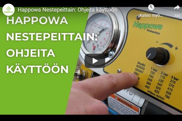 Happowa nestepeittain ohjeita käyttöön