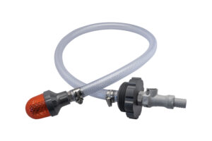 Suction hose for 1,000-litre IBC-container